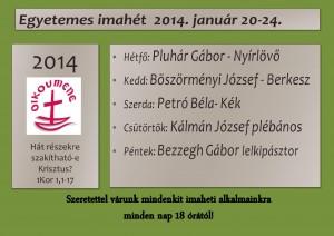 EGYETEMES IMAHÉT 2014