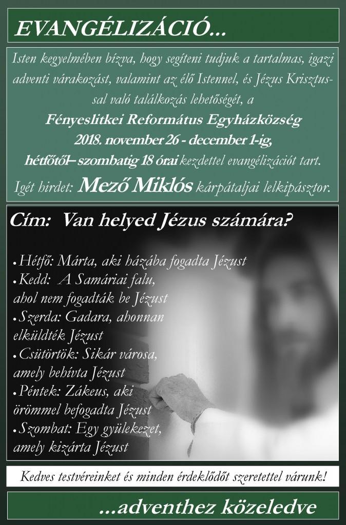 evangélizáció mező miklós